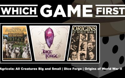 Agricola: All Creatures Big and Small   Dice Forge   Origins of World War II